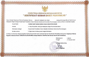 Bogor Pain Center - Sertifikat Rumah Sakit Pendidikan